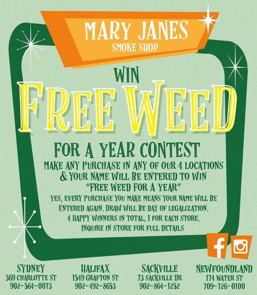 freed weed year contest3 890x1024 - Smoke weed everyday? FREE WEED FOR A YEAR contest gets N.L. politicians talking regulations