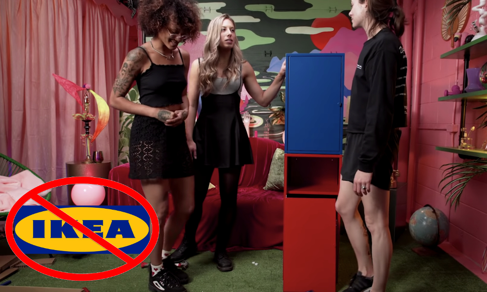 assemble ikea furniture stoned featured - Watch 3 chicks try to assemble IKEA Furniture after smoking weed!
