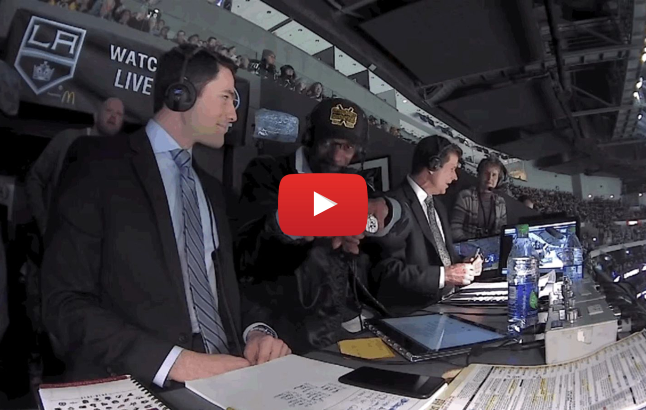 snoop dogg does hockey video - Dogg Cherry? Snoop Dogg drops puck at Kings-Penguins game and hits broadcast booth