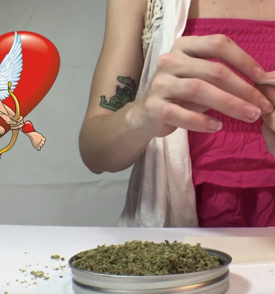 heart shaped joint valentines day featured 560x600 - Say I love you with weed! How to roll a heart-shaped joint for Valentine's Day!