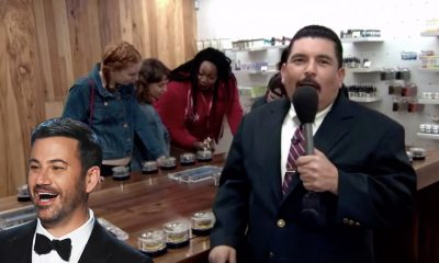 Hunt for legal weed.. Jimmy Kimmel visits MedMen in Hollywood