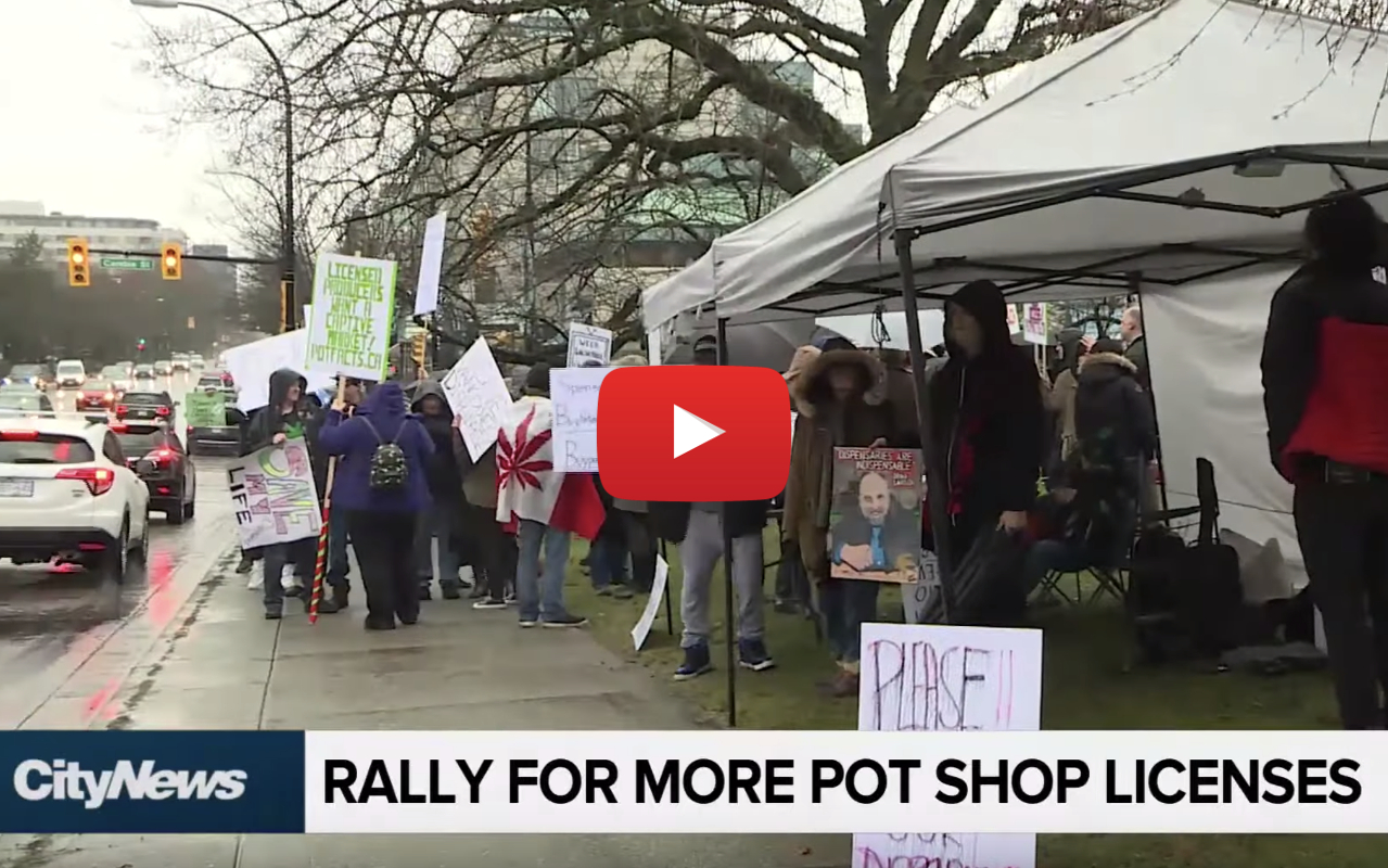 rally pot shops vancouver video - Vancouver Revolt! Rally for more licenses, dozens illegal pot shops closed January 31st