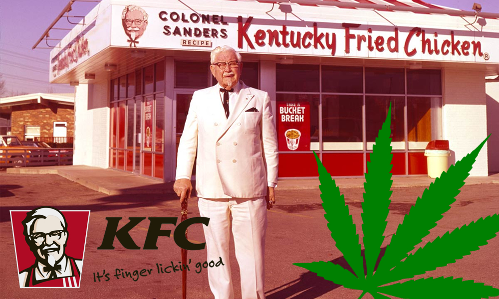 stoner colonel sanders featured - Got the munchies and craving some dirty bird? The Tragic Real-Life Story of Colonel Sanders