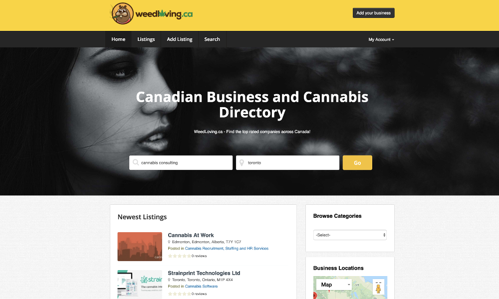 WeedLoving ca Canadian Cannabis Business Directory relaunched!