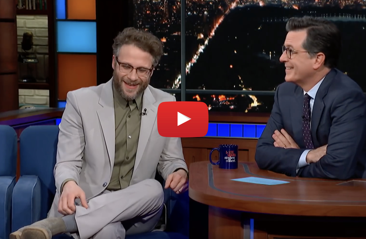 colbert seth movies high video - Stephen Colbert: Seth Rogen smokes weed in 100% of his movies for real!