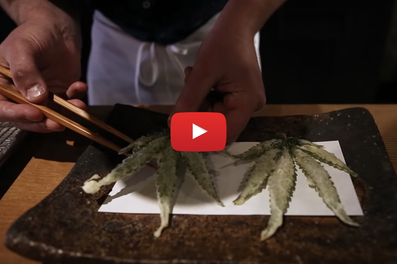 Ever tried eating deep-fried marijuana leaves?