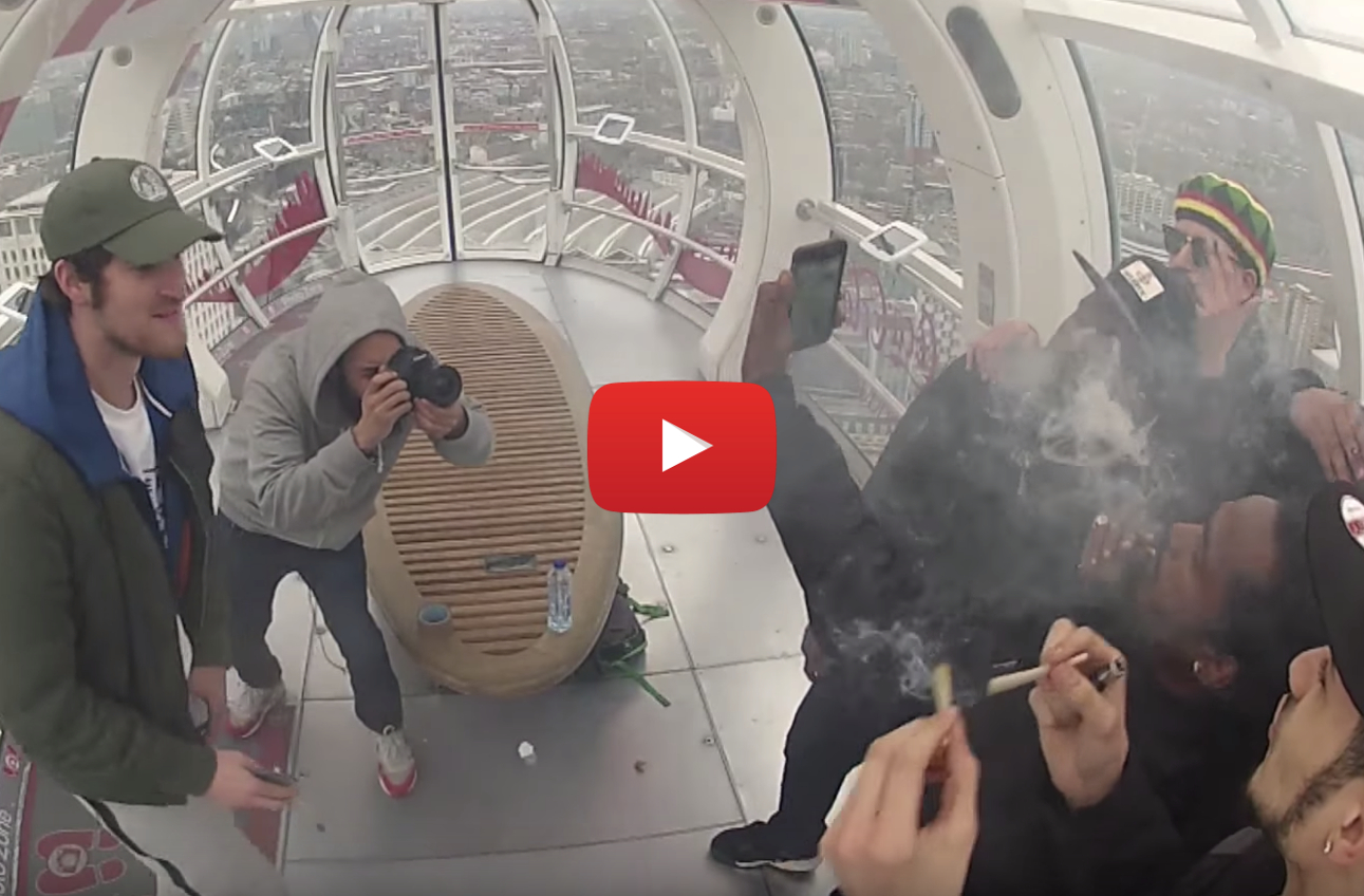 The Ultimate UK Weed Prank - What happens when you hotbox the London Eye?