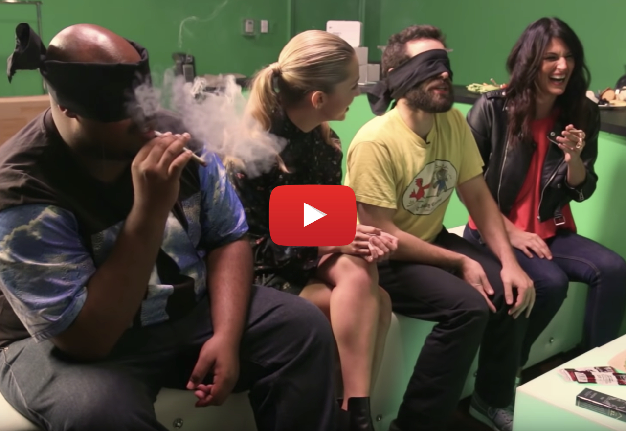 stoners surprised by snoop video - Smoking weed blindfolded, stoners get surprised by Snoop Dogg dropping high!