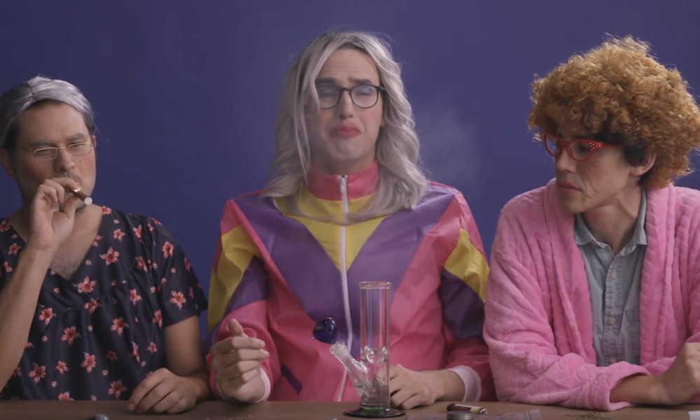 3 ugly grandmas smoke weed for the first time